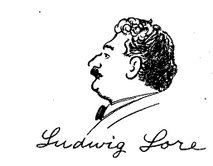 Ludwig Lore (sketch by Art Young)